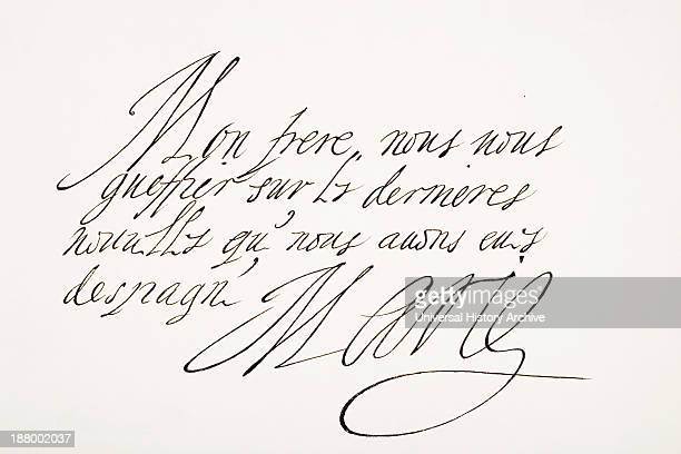 Marie De Medici 1575 – 1642 Italian Born Queen Consort Of France As Second Wife Of King Henry Iv Of France Hand Writing Sample