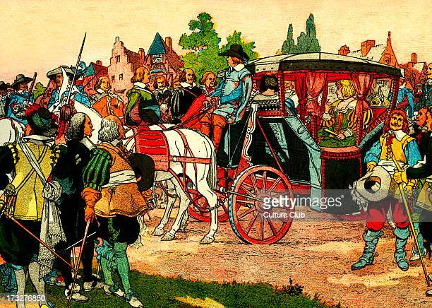 Marie de' Medici 's journey to the Netherlands From illustration by Eugene Courboin c 1912 Queen consort of France as the second wife of King Henry...