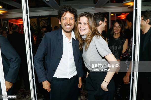 Marie de Menthon and a guest attend the Mastermind Magazine launch dinner as part of Paris Fashion Week Womenswear Fall/Winter 2017/2018 at Loulou...