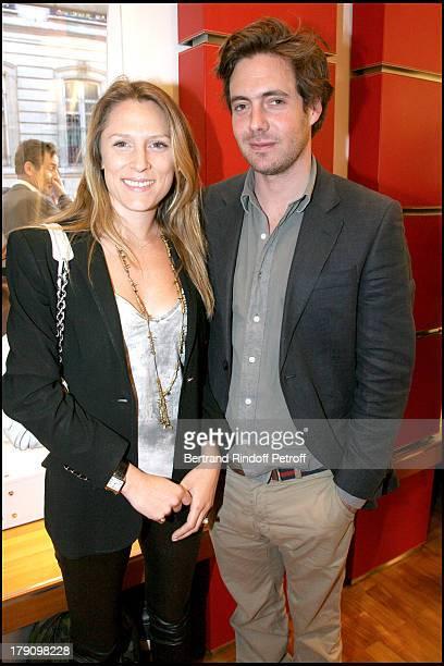 """Marie De Noailles and Arthur De Kersauson at Hogan Boutique Charity Party To Benefit """"Best Buddies""""."""