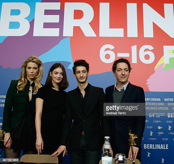 Marie de Villepin Charlotte Le Bon Pierre Niney and Guillaume Gallienne attends the 'Yves Saint Laurent' press conference during 64th Berlinale...