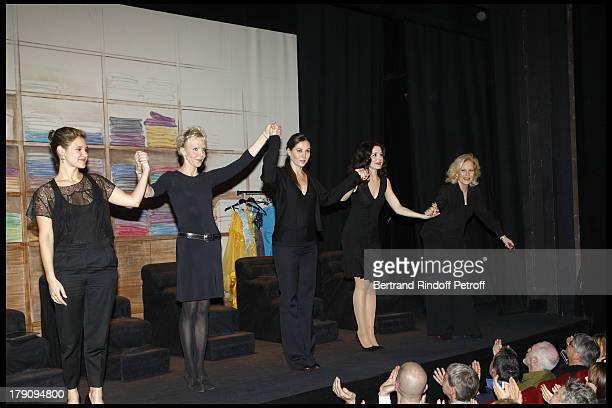 Marie Denarnaud Tonie Marshall Mathilde Seigner Chloe Lambert Sylvie Vartan at The Exclusive Show Of The Theatre Production L'Amour La Mort Les...