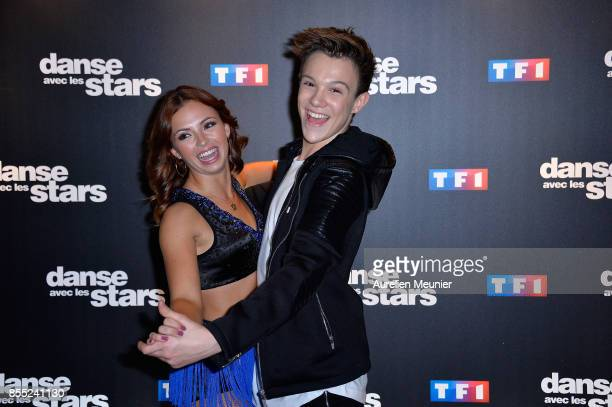 Marie Denigot and LenniKim attend the 'Danse avec les Stars' photocall at TF1 on September 28 2017 in Paris France