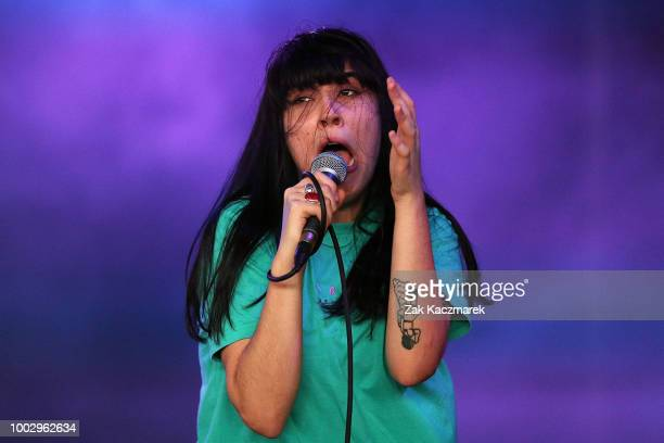 Marie DeVita of WAAX performs during Splendour in the Grass 2018 on July 21 2018 in Byron Bay Australia