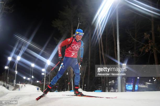 Marie Dorin Habert of France competes during the Biathlon 2x6km Women + 2x7.5km Men Mixed Relay on day 11 of the PyeongChang 2018 Winter Olympic...