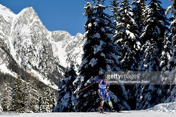 Marie Dorin Habert of France competes during the IBU Biathlon World Cup Women's Sprint on January 21 2016 in AntholzAnterselva Italy
