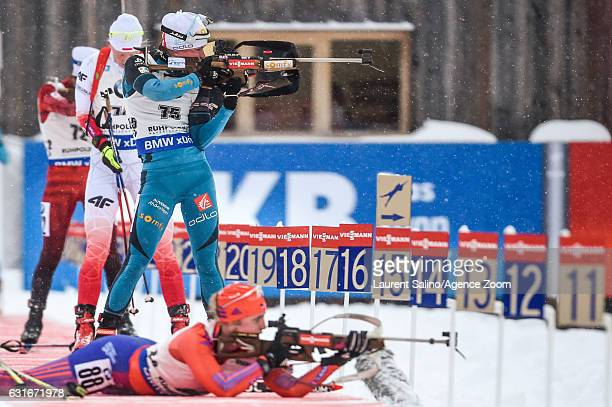 Marie Dorin Habert of France competes during the IBU Biathlon World Cup Women's Sprint on January 14 2017 in Ruhpolding Germany