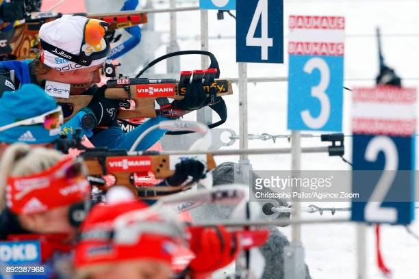 Marie Dorin Habert of France in action during the IBU Biathlon World Cup Women's Sprint on December 14 2017 in Le Grand Bornand France