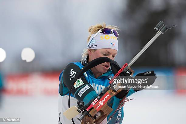 Marie Dorin of France competes during the 10 km women's pursuit on December 4, 2016 in Ostersund, Sweden.