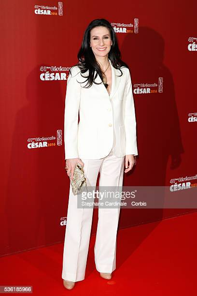 Marie Drucker arrives at the Cesar Film Awards 2016 at Theatre du Chatelet on February 26 2016 in Paris France