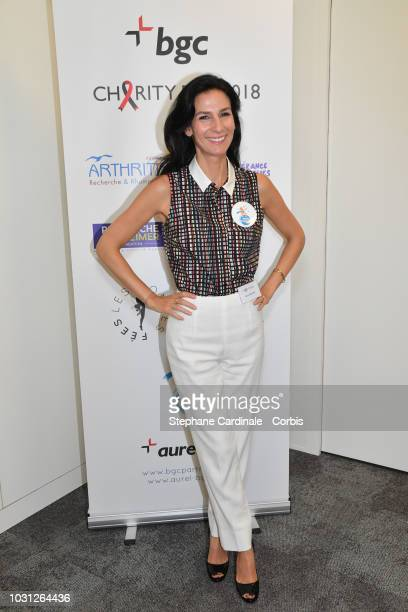 Marie Drucker attends the Aurel BGC Charity Benefit Day 2018 on September 11 2018 in Paris France