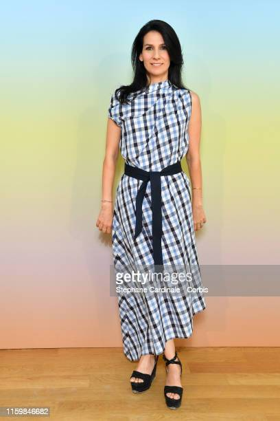 Marie Drucker attends the Bonpoint show Spring Summer 2020 as part of Paris Fashion Week on July 03 2019 in Paris France
