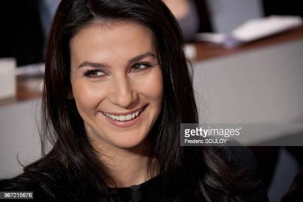 Marie Drucker attends Tv Talk Show 'Au Field de la Nuit' in Paris France on November 17 2011
