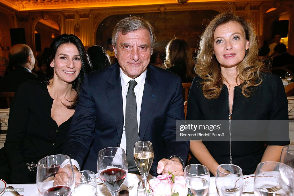Marie Drucker, Sidney Toledano and Valerie Trierweiler attend the 50th Anniversary party of Stephane Bern, called 'Half a century, it's party', celebrated at Angelina on November 14, 2013 in Paris, France.