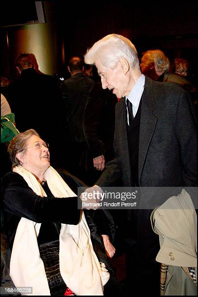 Marie Dubois and Alain Resnais Premiere of the movie Coeurs at the Gaumont cinema on the Champs Elysees in Paris