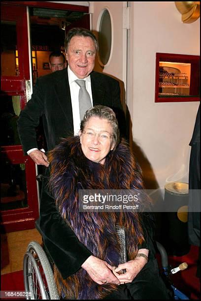 Marie Dubois and Serge Rousseau at Francis Huster In Memoires D'Un Tricheur At Theatre Des Mathurins