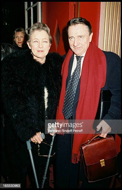 Marie Dubois and Serge Rousseau at theTheatre Production Of Art At TheTheatre Hebertot In Paris 1997