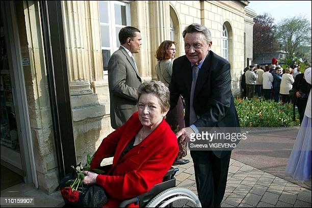 Marie Dubois at the wedding of Sandrine Bonnaire and Guillaume Laurant in Cabourg, France on March 29, 2003.