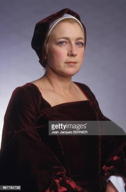 Marie Dubois en costume pour la pièce de théâtre 'Thomas Moore' à Paris le 28 février 1987 France