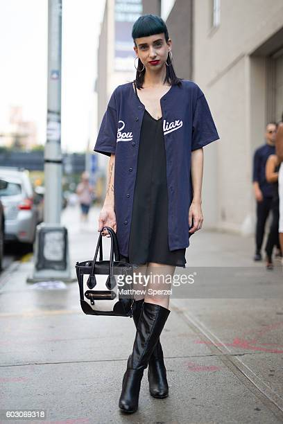 Marie Eve Venne is seen attending Christian Siriano during New York Fashion Week on September 10 2016 in New York City