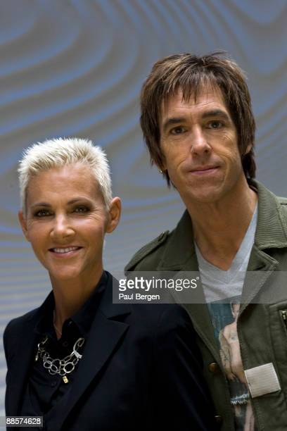 Marie Fredriksson and Per Gessle of Roxette pose for a portrait on May 6th 2009 in Amsterdam Netherlands