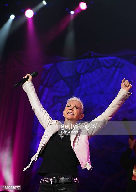 Marie Fredriksson of Roxette performs on stage during their concert at Sydney Entertainment Centre on February 16, 2012 in Sydney, Australia.