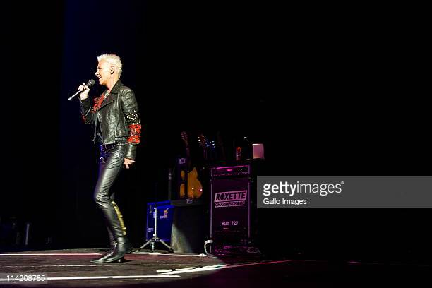 Marie Fredriksson of Swedish pop music duo Roxette performs at Sun City's Superbowl on May 13 2011 in Sun City near Rustenburg South Africa