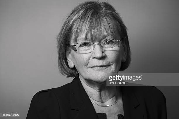 Marie George Buffet Communist party member of parliament representing Seine StDenis poses for a photograph on January 28 ahead of upcoming local...