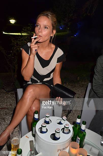 Marie Guillard attends the Peroni Nastro Azzuro Beer Cocktail Party at the Italian Embassy on September 29 2011 Paris France