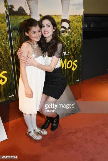 Marie Helmer and Claire Chust attend Problemos Paris Premiere At UGC Cine Cite Les Halles on May 9 2017 in Paris France