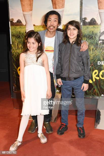 Marie Helmer Bun Hay Mean and guest attend 'Problemos' Paris Premiere At UGC Cine Cite Les Halles on May 9 2017 in Paris France