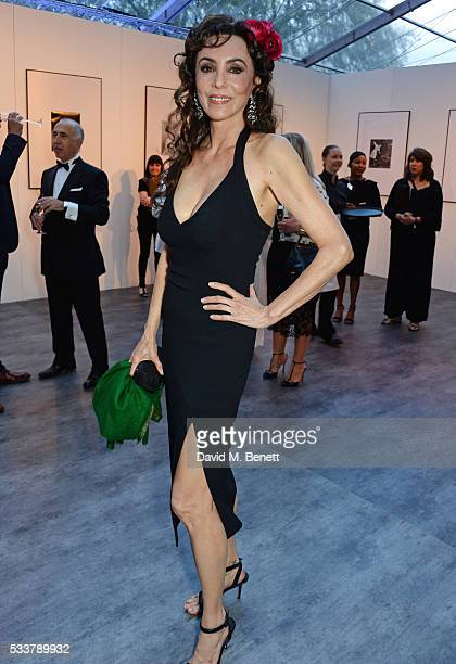 Marie Helvin attends British Vogue's Centenary gala dinner at Kensington Gardens on May 23 2016 in London England