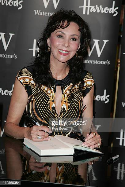 Marie Helvin signs copies of her autobiography on September 29, 2007 in London, England.