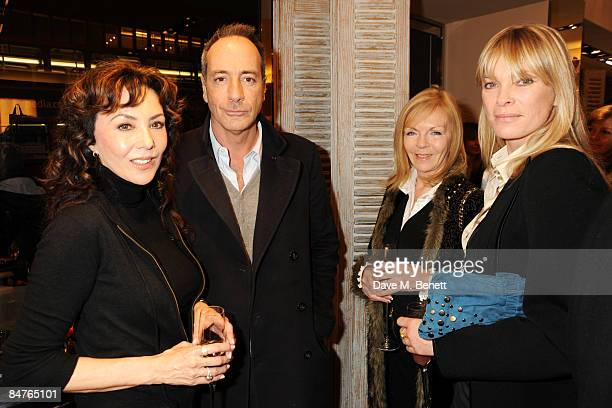 Marie Helvin Simon Astaire Adi Cook and Deborah Leng attend the Roger Vivier Champagne et Chocolat Party at Roger Vivier on February 12 2009 in...