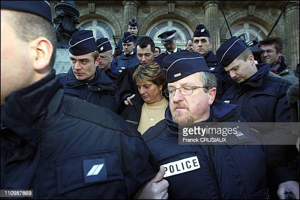 Marie Humbert Arrives At The BoulogneSurMer Courthouse Jan 13 To Be Charged In The Death Of Her Son Vincent On September 26 2003 She Said She Acted...