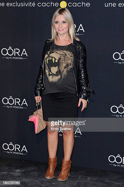 Marie Inbona attends the photocall for 'OORA' Womenswear Collection Designed By French Singer Matt Pokora at Pavillon Gabriel on September 5 2013 in...
