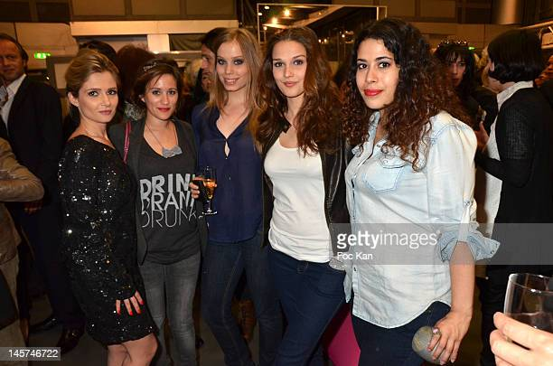 Marie Inbona Maeva Meline Roxane Le Texier Camille Lou and Nathalia attend the 'Trofemina 2012 Edition hosted by Tentation at Institut du Monde Arabe...