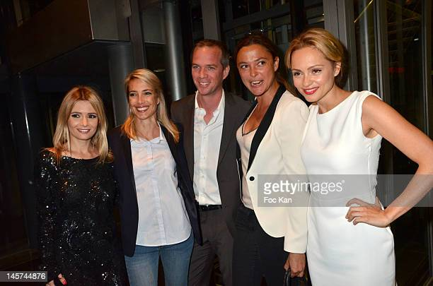 Marie Inbona Sidonie Bonnec Julien Arnaud Sandrine Quetier and Beatrice Rosen attend the 'Trofemina 2012 Edition hosted by Tentation at Institut du...