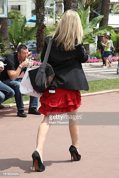 Marie Inbona walks on 'La Croisette' on May 13 2011 in Cannes France