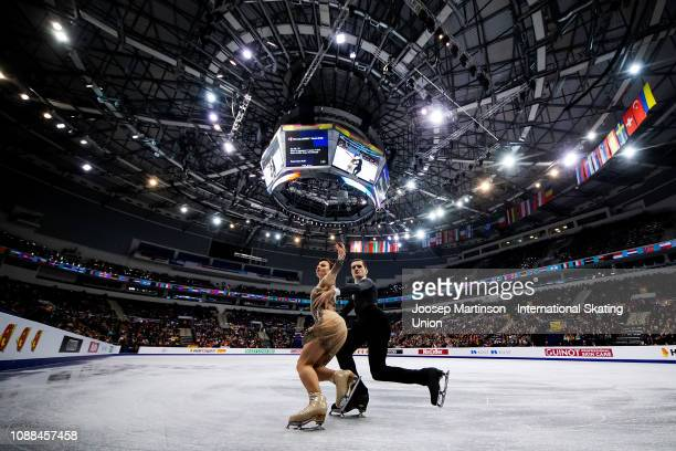 Marie Jade Lauriault and Romain Le Gac of France compete in the Ice Dance Rhythm Dance during day three of the ISU European Figure Skating...