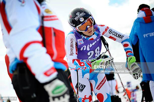 Marie Jay MarchandArvier of France before the start during the Audi FIS Alpine Ski World Cup Women's Downhill Training on December 19 2014 in Val...