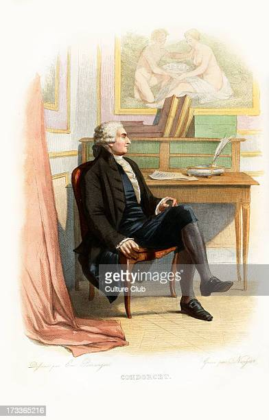 Marie Jean Antoine Nicolas de Caritat marquis de Condorcet French philosopher mathematician and early political scientist 17431794 Engraving by...