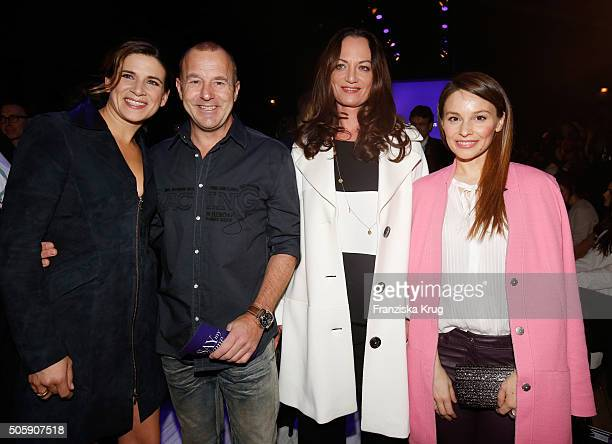 Marie Jeanette Ferch Heino Ferch Natalia Woerner and Mina Tander attend the Laurel show during the MercedesBenz Fashion Week Berlin Autumn/Winter...