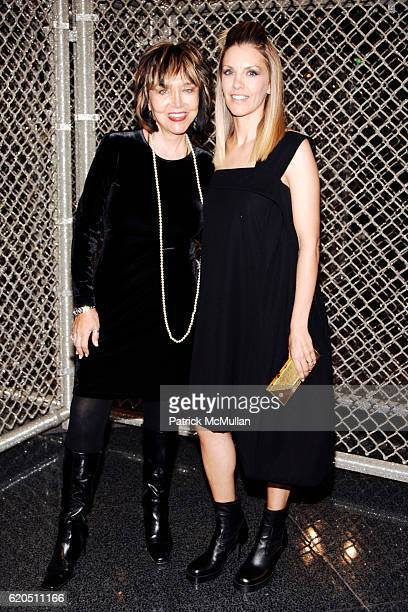 Marie Jordan and Liza Lou attend Opening of LIZA LOU's Maximum Security Fence at LEVER HOUSE at Lever House on September 24 2008 in New York City