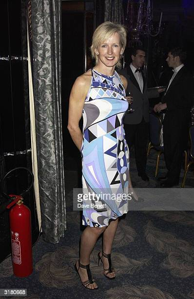 Marie Jordan attends the UK FIFI Fragrance Awards in aid of the Teenage Cancer Trust at the Dorchester Hotel on April 1st 2003 in London THE