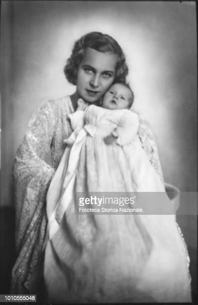 Marie José Carlotta Sophia Amelia Henrietta Gabriella of Saxe Coburg-Gotha , Princess consort of Piedmont as wife of the future Umberto II since...