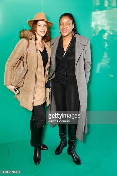 Marie Jose Perec and guest attend the Lacoste show as part of the Paris Fashion Week Womenswear Fall/Winter 2019/2020 on March 05 2019 in Paris France