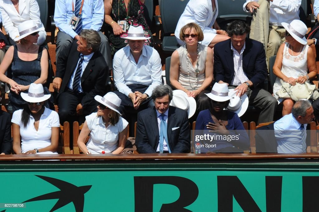 Marie Jose PEREC / Patrick DE CAROLIS / Rama YADE / Jean GACHASSIN - - Finale Dames - Roland Garros 2010 -