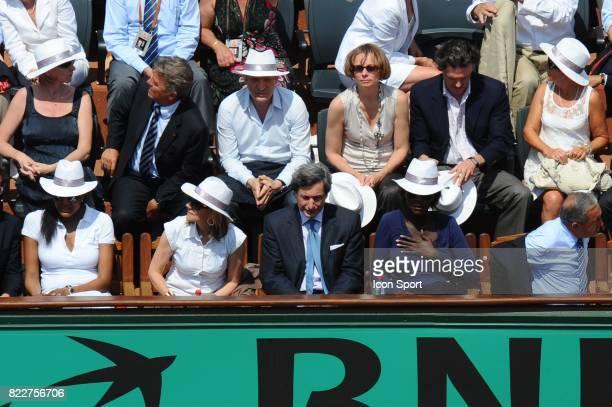 Marie Jose PEREC / Patrick DE CAROLIS / Rama YADE / Jean GACHASSIN Finale Dames Roland Garros 2010