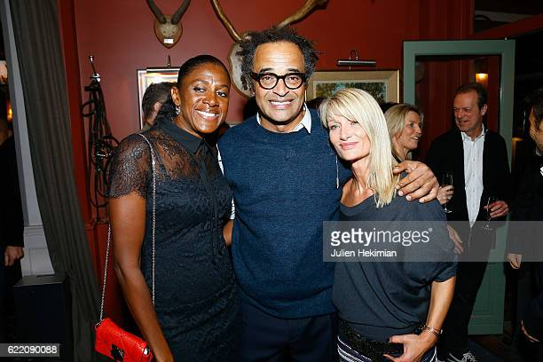 Marie Jose Perec Yannick Noah and his wife Isabelle Camus attend Fete le Mur Celebration 20th Anniversary At Chalet des Iles In Paris on November 9...
